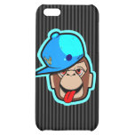 stays Happy cute cool blue cap apes Cover For iPhone 5C