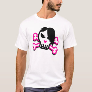 stays Happy skull in Emo style for light clr shirt