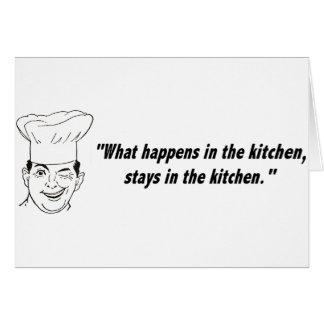 Stays in Kitchen Card
