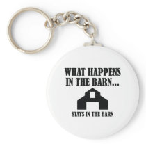 Stays In The Barn Keychain