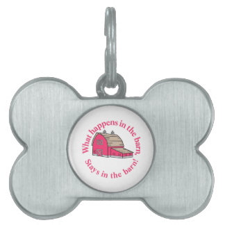 Stays in the Barn! Pet Name Tag