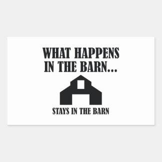 Stays In The Barn Rectangular Sticker