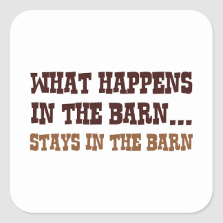 Stays In The Barn Square Sticker