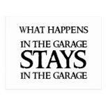 STAYS IN THE GARAGE POST CARD