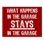 Stays In The Garage Postcard