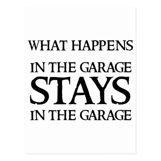 STAYS IN THE GARAGE POSTCARDS