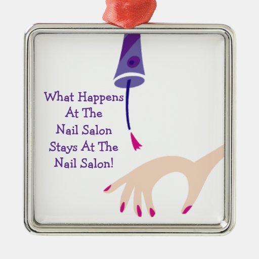 Stays @ The Nail Salon Ornament