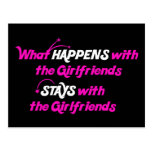 Stays With Girlfriends Postcard