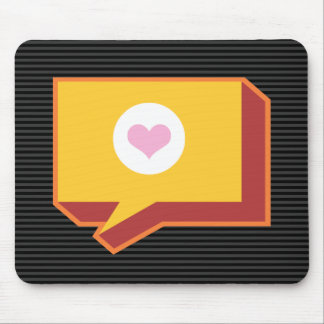 staysHappy  speak out loud stay happy design Mouse Pad