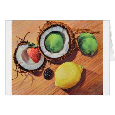 Beach Themed StBerry Lime Lemon Coconut Unity Card