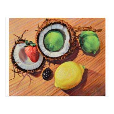 Beach Themed StBerry Lime Lemon Coconut Unity Postcard