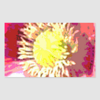 STBX Floral Decoration for Gift, Greetings, Craft Rectangular Sticker