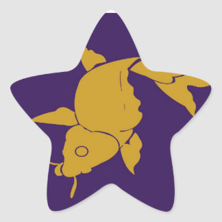 STBX Gold Fish n Sparkling Lucky Blue Star Star Stickers