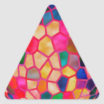 STBX  Light Red Glowing Crystal Triangle Stickers