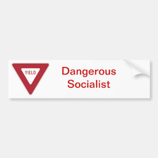 Stciker de parachoques socialista peligroso pegatina para auto