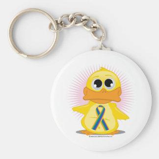 STD Ribbon Duck Basic Round Button Keychain
