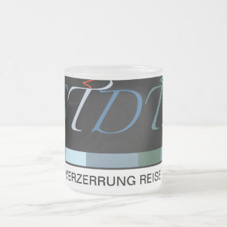 STDTS: Verzerrung Reise Frosted Glass Coffee Mug