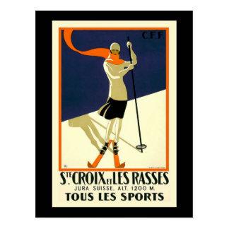 Ste Croix et les Rasses tous le Sports Postcard