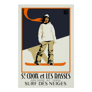 Ste. Croix y Les Rasses Póster