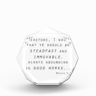 steadfast immovable mosiah lds scripture award