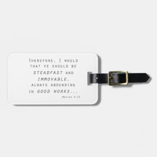 steadfast immovable mosiah lds scripture bag tag