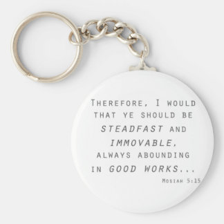 steadfast immovable mosiah lds scripture basic round button keychain