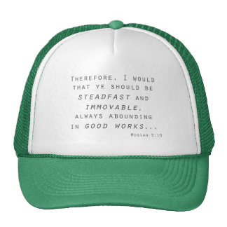 steadfast immovable mosiah lds scripture hat