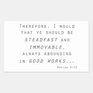 steadfast immovable mosiah lds scripture rectangular sticker