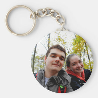 Steadfast Love and a Fall Day Button Keychain Basic Round Button Keychain