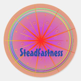 Steadfastness (Virtue sticker) Classic Round Sticker