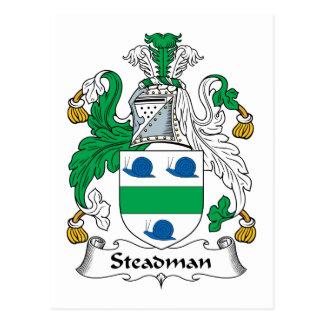 Steadman Family Crest Postcard