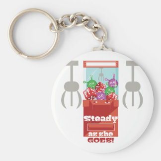 Steady As She Goes Basic Round Button Keychain