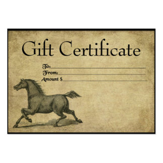 Steady Steed- Prim Gift Certificate Cards Large Business Card