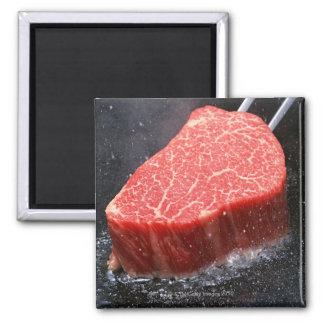 Steak 2 Inch Square Magnet