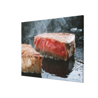 Steak 3 stretched canvas prints