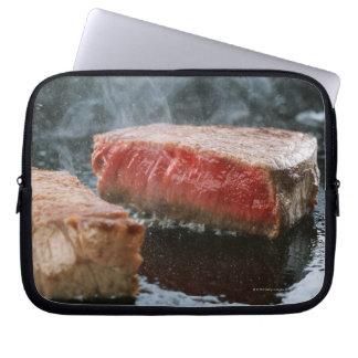 Steak 3 laptop computer sleeves