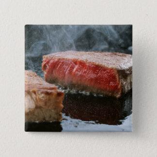 Steak 3 pinback button