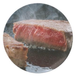 Steak 3 dinner plate