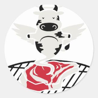 Steak Angel Classic Round Sticker
