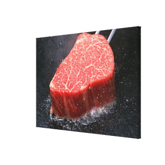 Steak Stretched Canvas Print