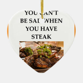STEAK CERAMIC ORNAMENT