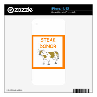 steak donor skins for the iPhone 4S
