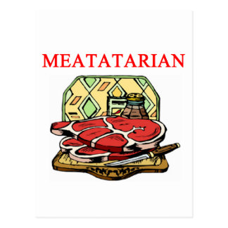 steak hamburger and meat postcard