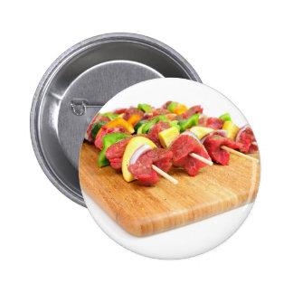 Steak Kabob Pinback Buttons