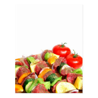Steak Kabob Postcard