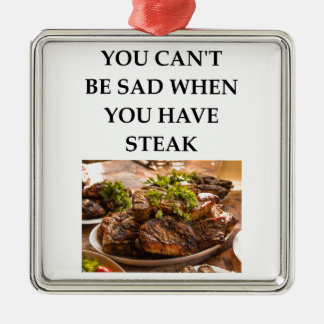 STEAK METAL ORNAMENT