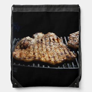 Steak on Grill - What's for  Dinner Drawstring Backpack