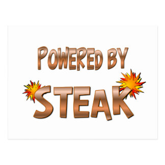 Steak Power Postcard