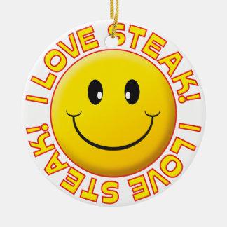 Steak Smile Ceramic Ornament