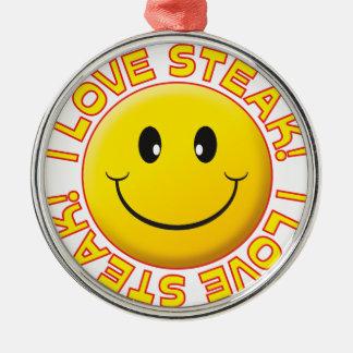Steak Smile Metal Ornament